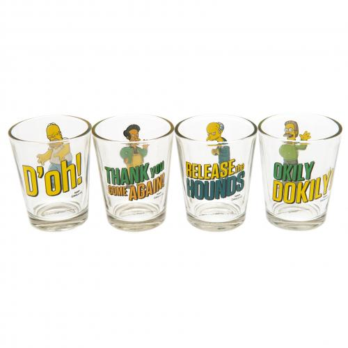 The Simpsons 4pk Shot Glass Set