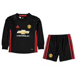 2016-2017 Man Utd Adidas Home Goalkeeper Little Boys Mini Kit