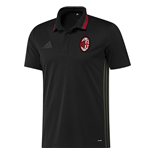 2016-2017 AC Milan Adidas Training Polo Shirt (Black)
