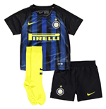 2016-2017 Inter Milan Home Nike Little Boys Mini Kit