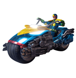 Judge Dredd Action Figure 1/12 Judge Dredd with Lawmaster Bike Box Set Previews Exclusive 17 cm