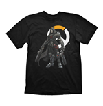 OVERWATCH Men's Reaper & Logo T-Shirt, Extra Large, Black