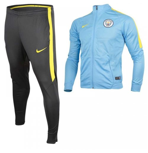 2016-2017 Man City Nike Woven Tracksuit (Blue) - Kids