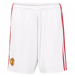 2016-2017 Man Utd Adidas Home Shorts (White)