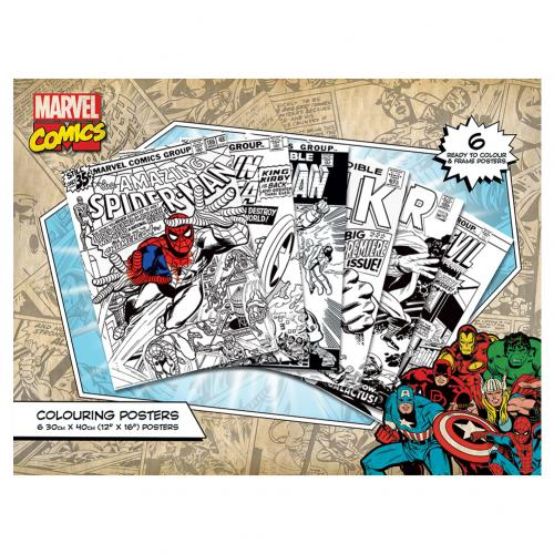 Marvel Comics Colouring Poster Pack