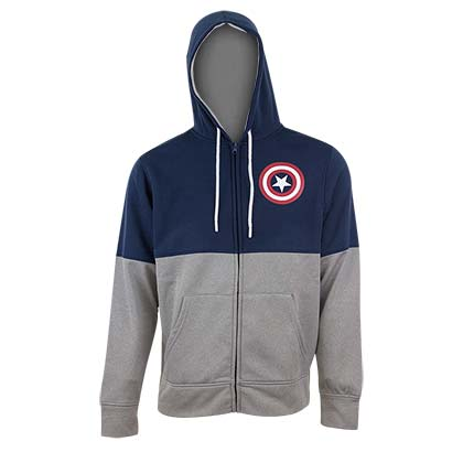 CAPTAIN AMERICA Two-Tone Fleece Hoodie
