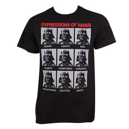STAR WARS Expressions Of Darth Vader Tee Shirt