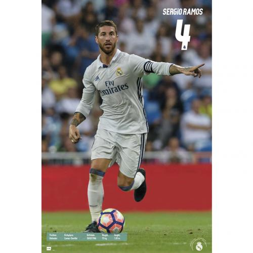 Real Madrid F.C. Poster Ramos 53