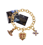 Harry Potter Charm Bracelet Lumos Gryffindor (gold plated)