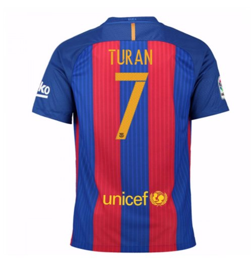 2016-17 Barcelona Sponsored Home Shirt (Turan 7) - Kids