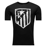 2016-2017 Atletico Madrid Nike Crest Tee (Black)
