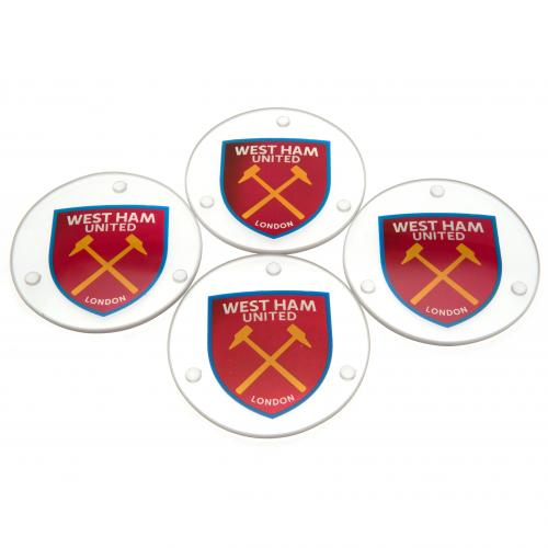 West Ham United F.C. Glass Coasters