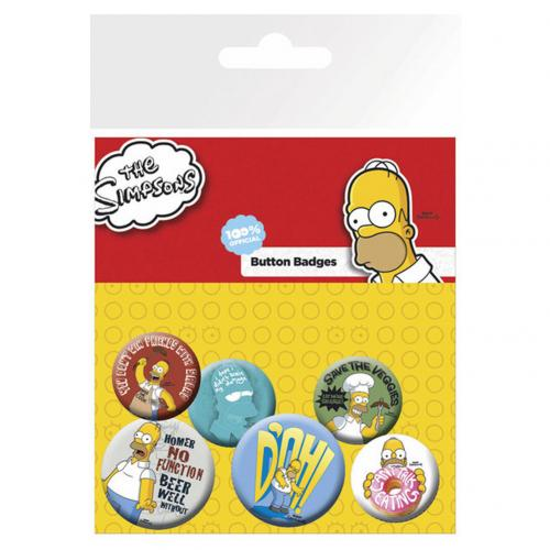 The Simpsons Button Badge Set