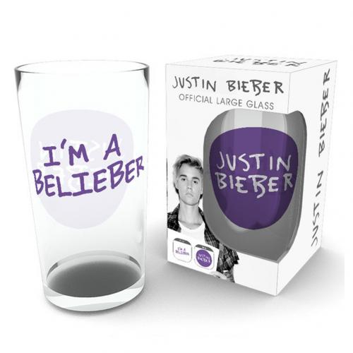 Justin Bieber Large Glass