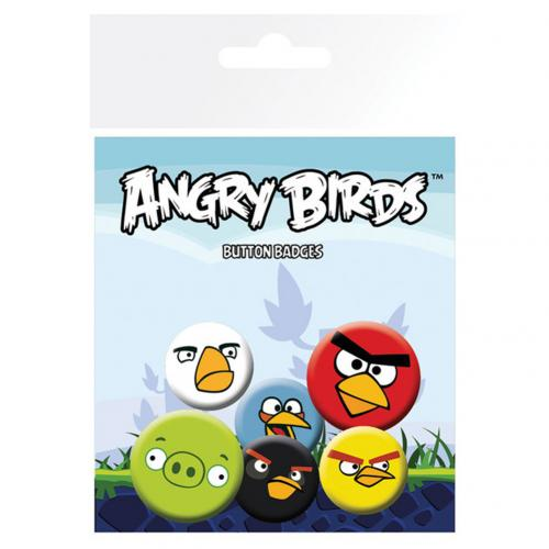 Angry Birds Button Badge Set