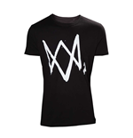 Watch Dogs 2 - Black T-shirt with large Logo