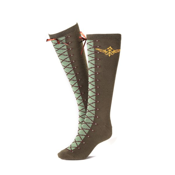 Zelda - Knee High Sock, Laces effect