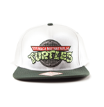 Turtles - Logo. snap back cap. White/Green