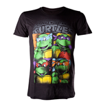 TMNT - Bright Graffiti. Black T-Shirt