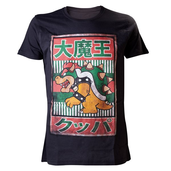 Nintendo - Black Bowser Kanji Mens T-shirt