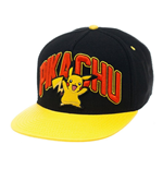 Pokémon - Pikachu Black Snapback With Yellow Bill