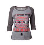 PlayStation - Live in Your World Play in Ours Raglan T-shirt