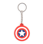 Marvel Comics -Captain America Shield Logo Rubber Keychain