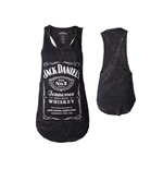 Jack Daniel's - Tanktop Female Wider Longer, front panel printed/Marble wash
