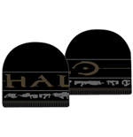 Halo - Black Knit Jacquard Beanie