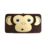 Freaks And Friends - Furry Monkey Face Hinge Wallet