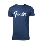 Fender - Blue T-shirt with classic logo