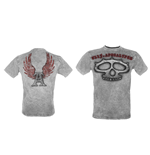 Knuckles'- UL13 Mens Grey Vintage T-Shirt