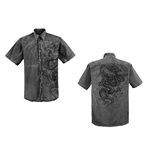 Crouching Dragon' - Vintage Black Shirt
