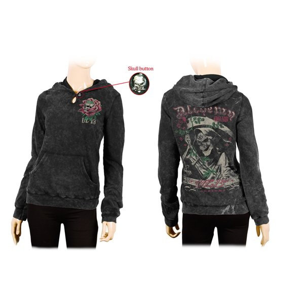 Roses Ripper' - AEA Black Tear Girl Hoodie