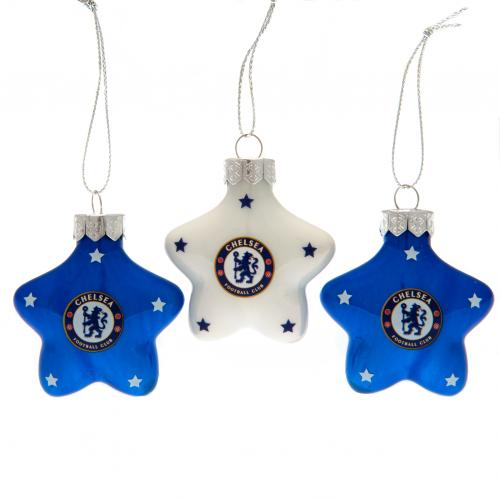 Chelsea F.C. 3pk Star Baubles