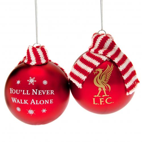 Liverpool F.C. 2pk Large Scarf Baubles