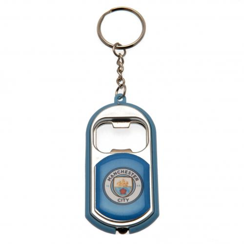 Manchester City F.C. Key Ring Torch Bottle Opener