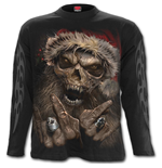 Rock Santa - Longsleeve T-Shirt Black