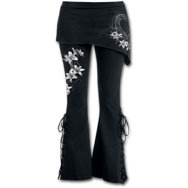 Pure Of Heart - 2in1 Boot-Cut Leggings with Micro Slant Skirt