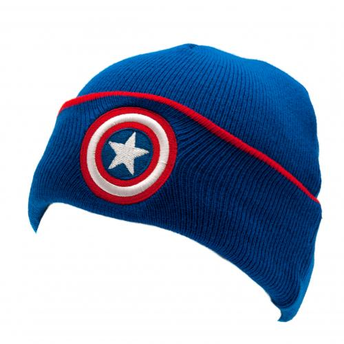 Captain America Knitted Hat Junior TU