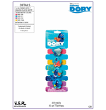 Finding Dory Set of 4 Hair Elastics