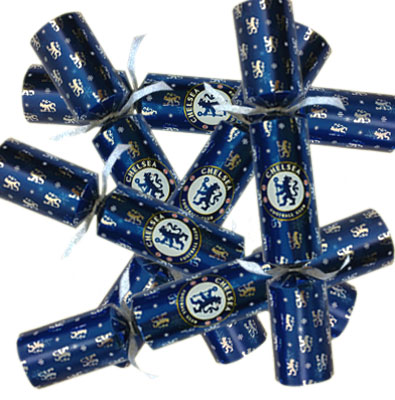 Chelsea F.C. 6pk Luxury Christmas Crackers