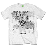 The Beatles Men's Tee: Revolver Album Cover
