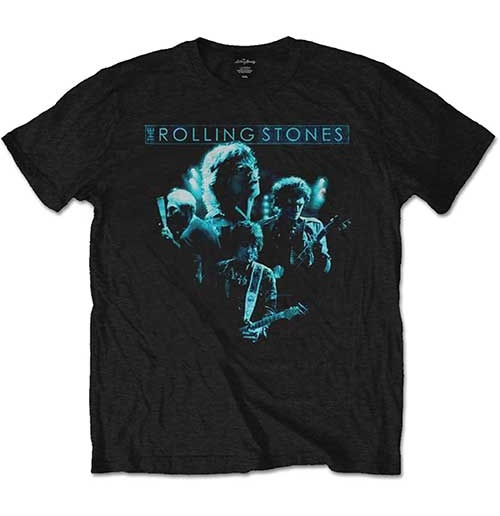 The Rolling Stones Men's Tee: Band Glow