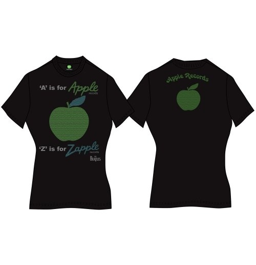 The Beatles Ladies Premium Tee: A is for Apple