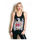 Slayer Ladies Vest Tee: Silver Eagle