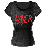 Slayer Ladies Fashion Tee: Classic Logo