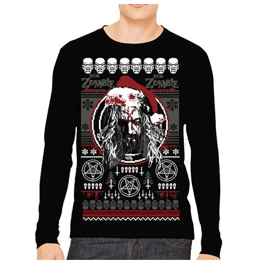 Rob Zombie Mens Sweatshirt: Bloody Santa