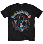 Ramones Men's Tee: Vintage Wings Photo