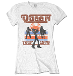 Queen Ladies Tee: 1976 Tour Silhouettes